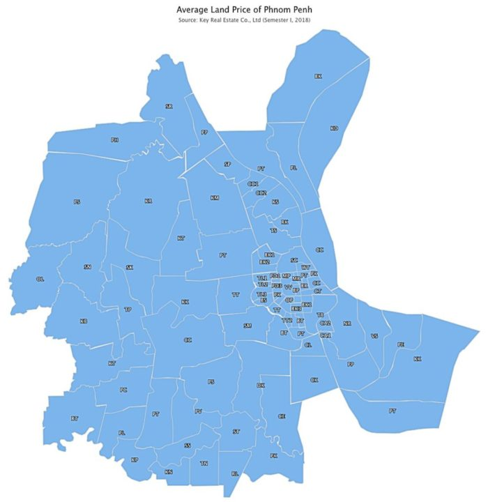 phnom penh avarage land price map