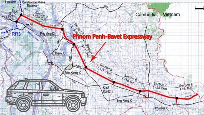 The Phnom Penh-Bavet expressway