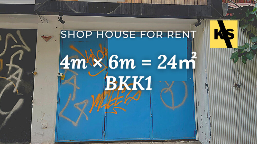 shop house for rent at bkk1
