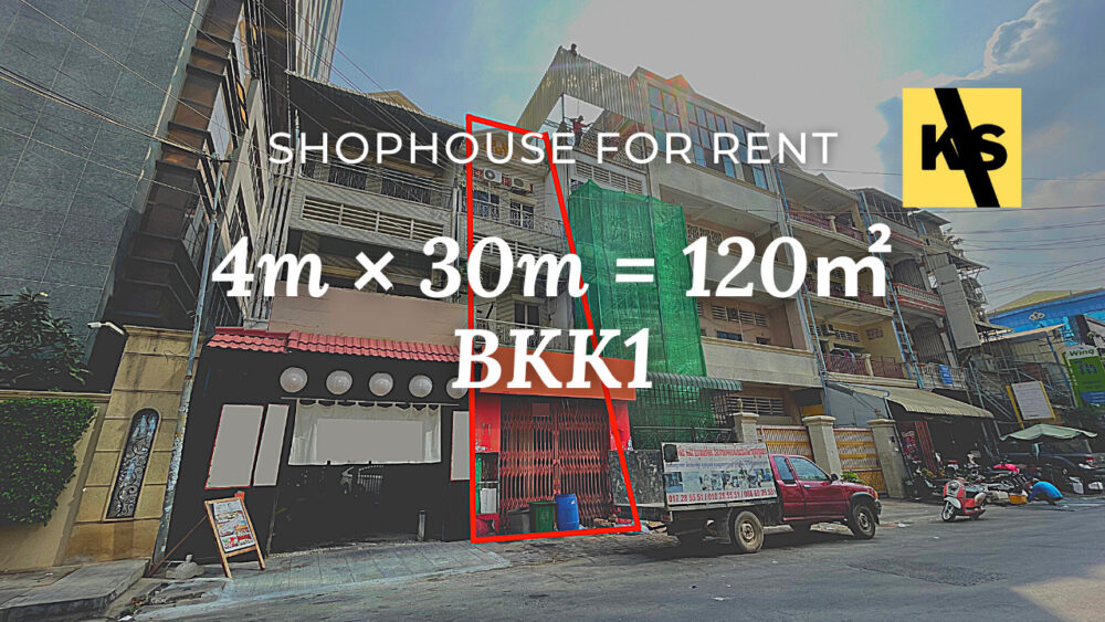 Shophouse 4×30m / Rent / BKK1, Phnom Penh › KeepScope
