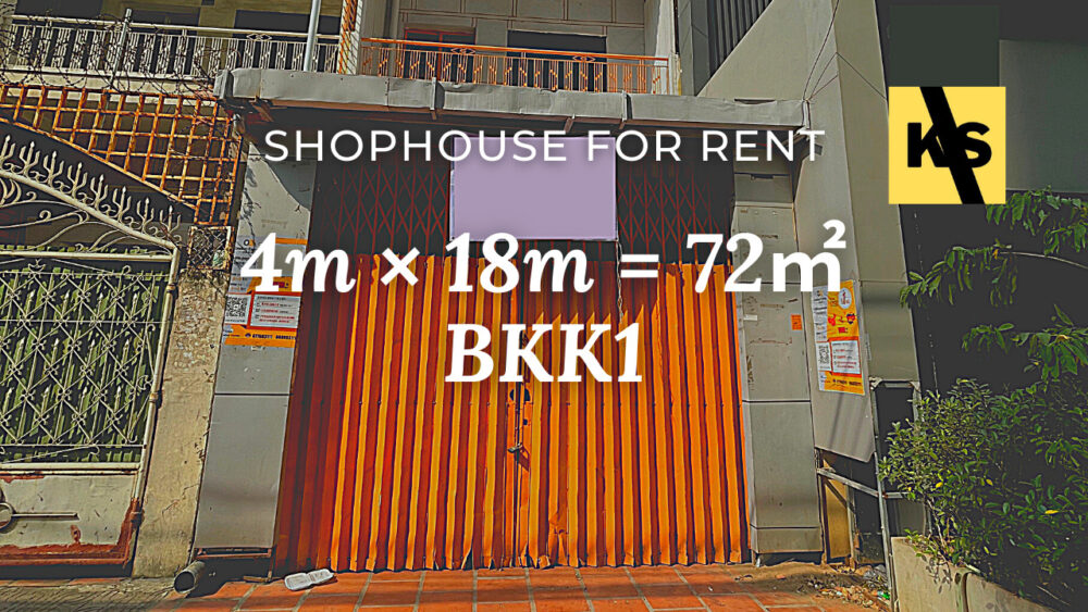Shophouse 4×18m / Rent / BKK1, Phnom Penh