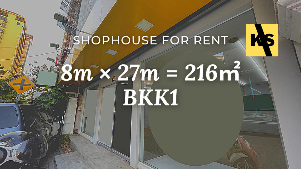 Shophouse for rent, BKK1, Phnom Penh/ ផ្ទះរកសុីមសំរាប់ជួល, បឹងកេងកង ១ ភ្នំពេញ