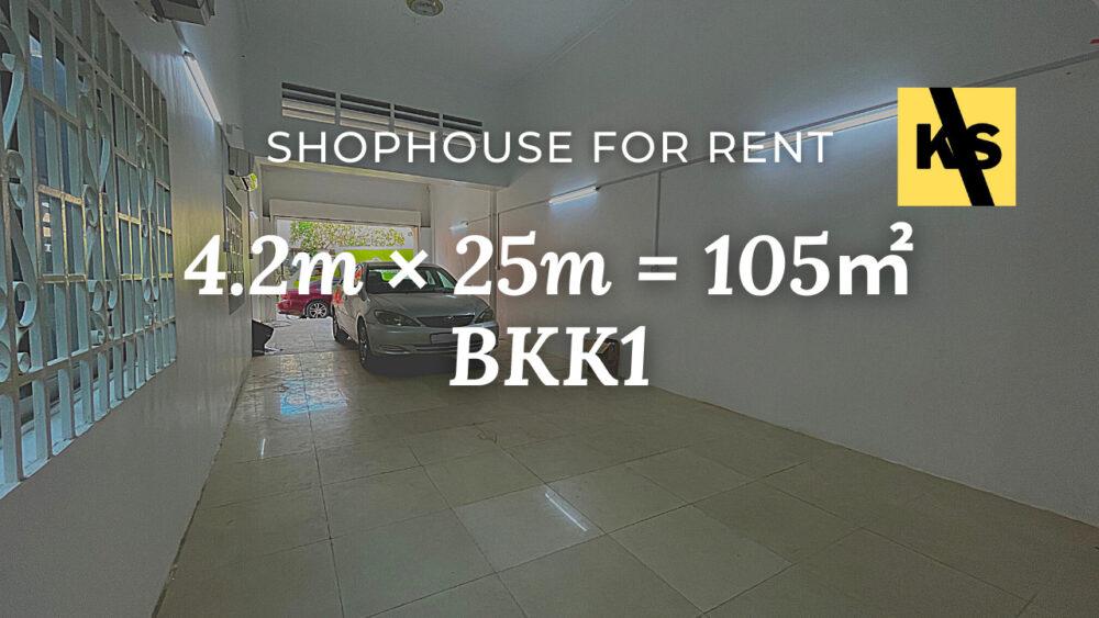 Shophouse for rent, BKK1, Phnom Penh / ផ្ទះរកសុីមសំរាប់ជួល, បឹងកេងកង ១ ភ្នំពេញ