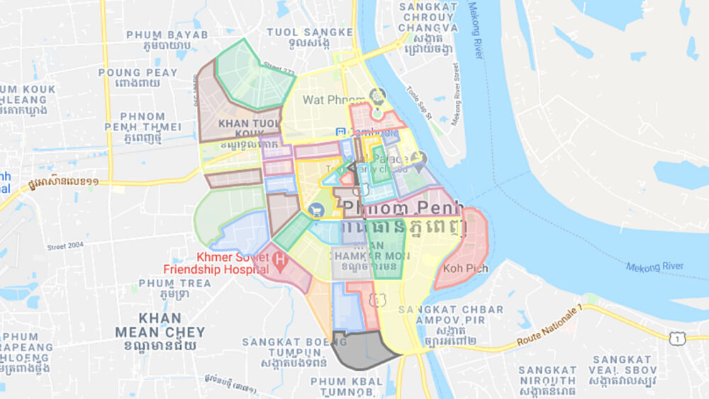 Phnom Penh Area Map