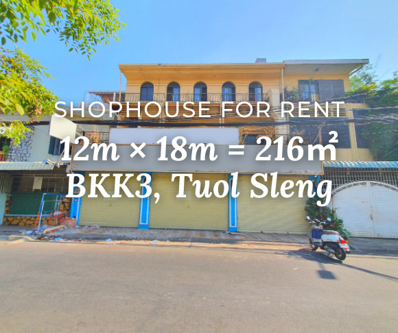 Shophouse 12×18m / Rent / BKK3, Tuol Sleng, Phnom Penh › KeepScope