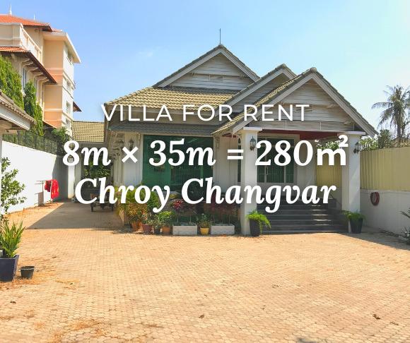 Villa 8×35m / Rent / Chroy Changvar, Phnom Penh › KeepScope
