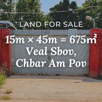 Land 15×45 / Sale / Veal Sbov, Phnom Penh › KeepScope